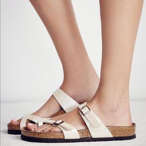 Birkenstock Mayari Birko-Flor Pearl White Sandals